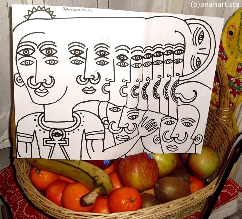 """""""CANESTRO DI FRUTTA CON DISEGNO""""  - (b)ananartista orgasmo SBUFF - www.bananartista.com"""