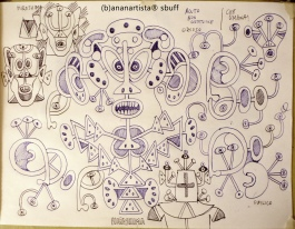 """HIROSHIMA"" - pen on paper - (b)ananartista 20013"