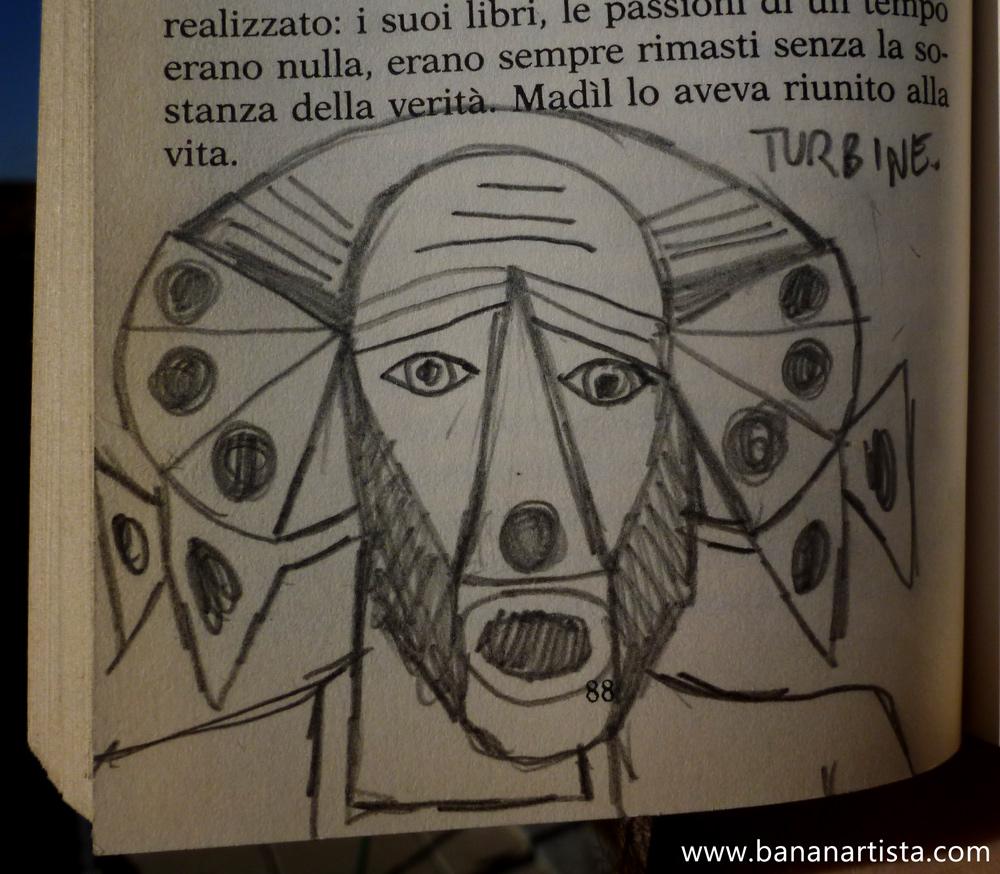 """Madìl lo aveva riunito alla vita"" - pencil on Estasi - (b)ananartista orgasmo SBUFF 20013 - www.bananartista.com"