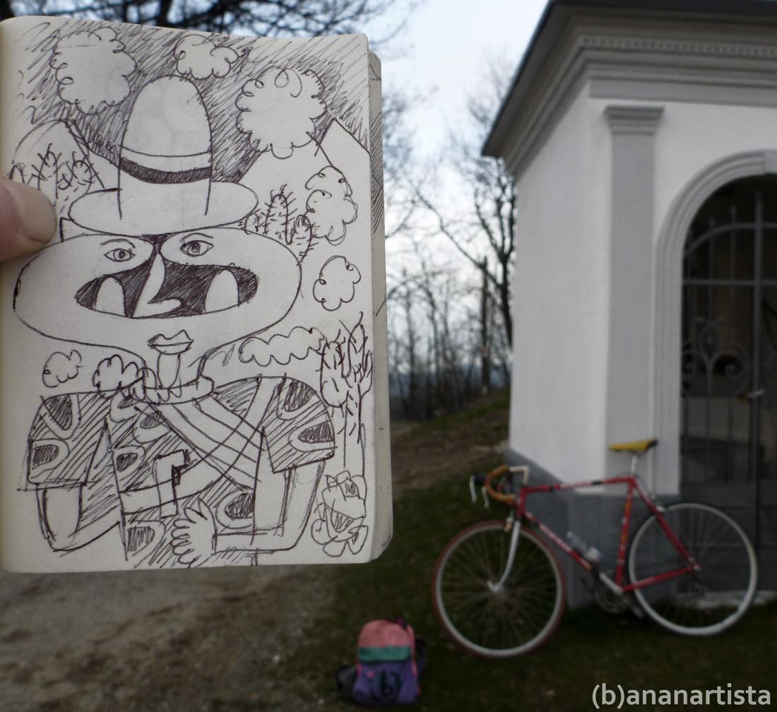un pistolero, una bici e un tenero zainetto - (b)ananartista Sbuff - www.bananartista.com