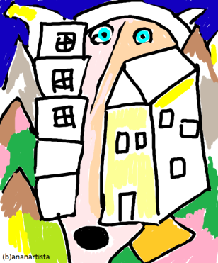 """GENIUS LOCI"" - (b)ananartista orgasmo Sbuff - digital art - www.bananartista.com"