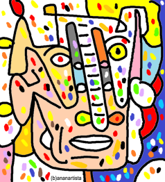 """IL DUCA"" - (b)ananartista orgasmo Sbuff - digital art - www.bananartista.com"