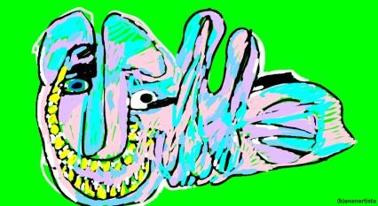 """IL MOSTRICIATTOLO"" - (b)ananartista orgasmo Sbuff - digital art - www.bananartista.com"