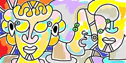 """""""IL QUESITO DELLA SFINGE"""" - (b)ananartista orgasmo Sbuff - digital art - www.bananartista.com"""