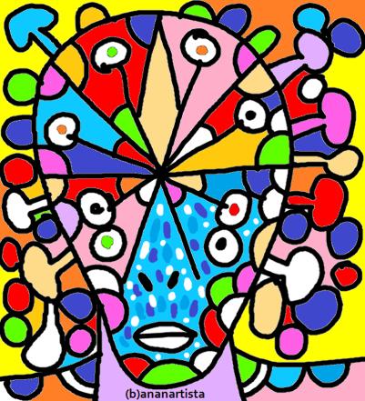 """LA MIRABOLANTE GIRELLA COSMICA"" - (b)ananartista orgasmo Sbuff - digital art - www.bananartista.com"