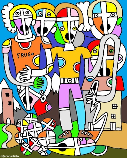 """UNA GIORNATA AL MARE"" - (b)ananartista orgasmo Sbuff - digital art - www.bananartista.com"