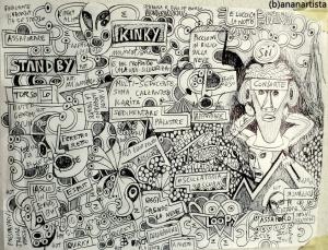 """IL MIO UNIVERSO"" - (b)ananartista orgasmo SBUFF - mixed media on paper - http://www.bananartista.com"