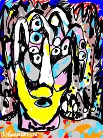 """Montagno"" - (b)ananartista orgasmo Sbuff - digital art"