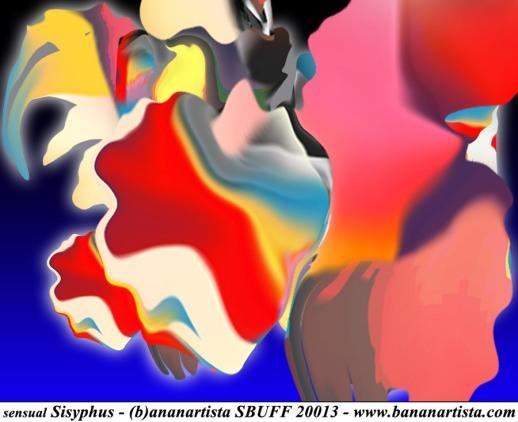 """Sensual Sisyphus"" - (b)ananartista orgasmo Sbuff - digital art"