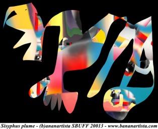 """Sisyphus Plume"" - (b)ananartista orgasmo Sbuff - digital art"