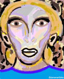 """""""UOMO CON COSACCA AZZURRA"""" - (b)ananartista orgasmo Sbuff - digital art - www.bananartista.com"""