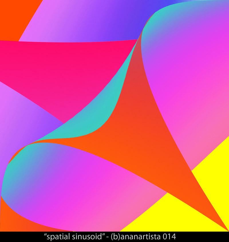"""spatial sinusoid"" - (b)ananartista sbuff 2014"