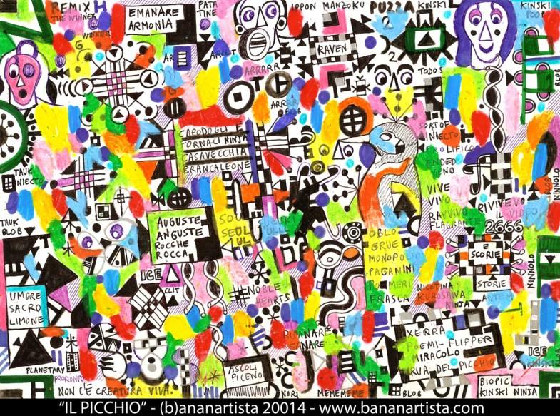 """""""il picchio"""" - (b)ananartista 20014 - www.bananartista.com"""