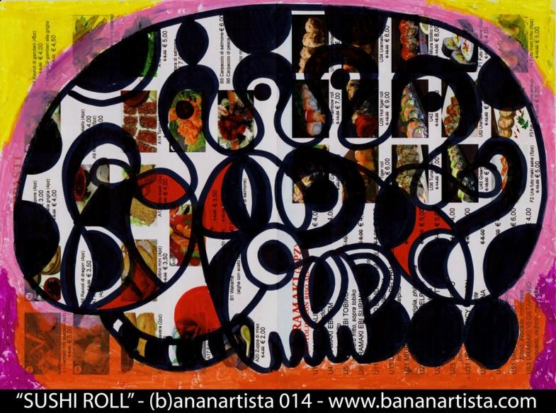 """""""kasei sushi roll"""" - (b)ananartista 2014 - www.bananartista.com"""