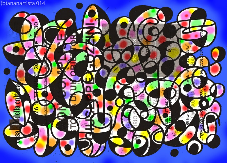 opera d'arte del performer (b)ananartista per Fulvio Papi, Musil, la casa della cultura  e la filosofia