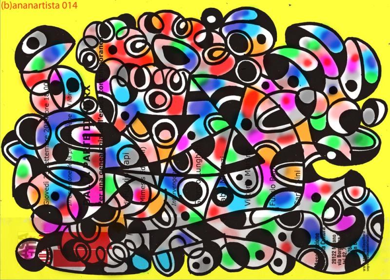 opera d'arte del pittore (b)ananartista per Fulvio Papi, Musil e la casa della cultura