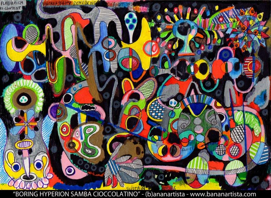 tzadik samba plagiarism abstract avant-garde art by (b)ananartista orgasmo sbuff