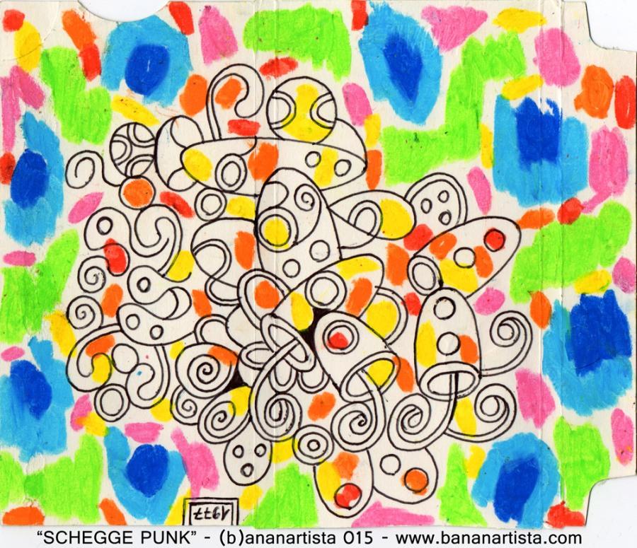 schegge in rotazione disegno astratto di (b)ananartista sbuff