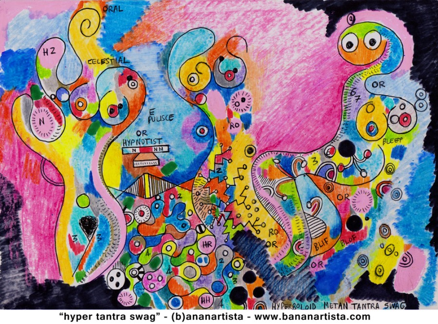 hyper tantra swag erotic color painting by (b)ananartista orgasmo sbuff