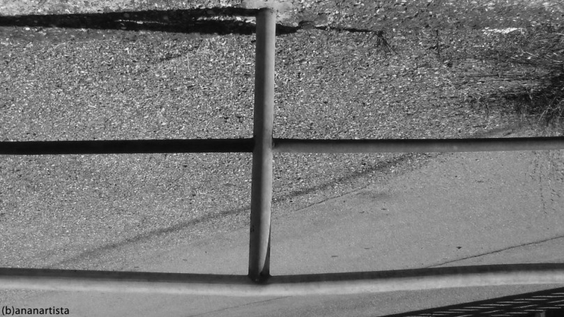 THE GUARD RAIL urban art portrait photography by (b)ananartista sbuff © 2015 all rights reserved