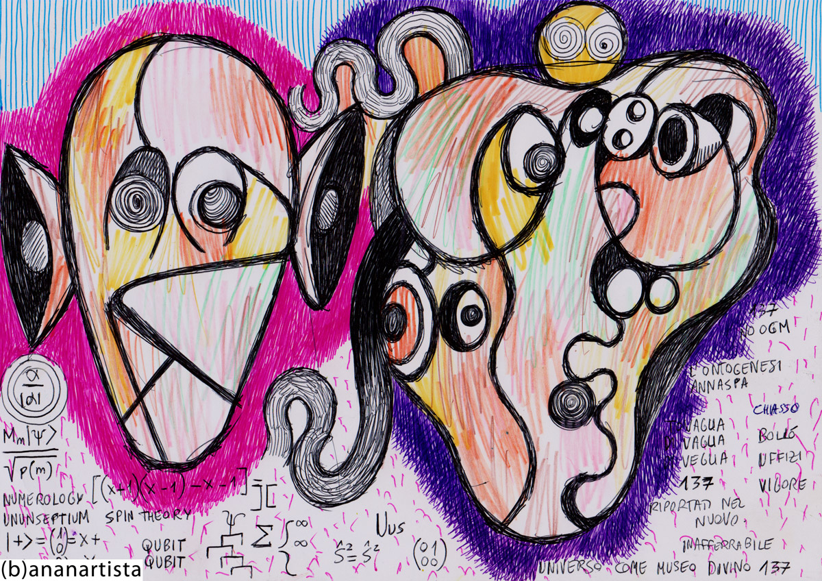 drawing painting and expressionism contemporary artwork by (b)ananartista orgasmo sbuff © 2015 all rights reserved