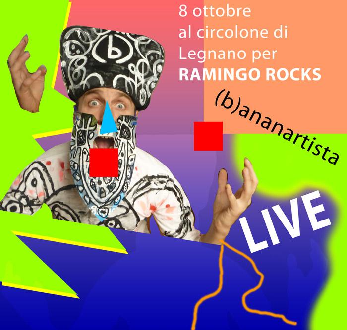 (b)ananartista concerto sperimentale elettroacustico al circolone di legnano 8 ottobre 2015 per Ramingo Rocks