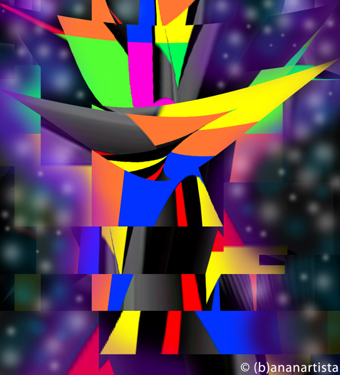 COSMIC EXTRATERRESTRIAL PINWHEEL digital art by (b)ananartista sbuff © 2015 all rights reserved