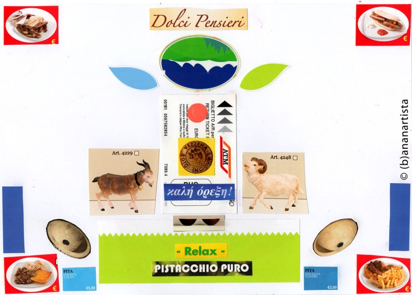 DOLCI PENSIERI collage by (b)ananartista sbuff © 2015 all rights reserved