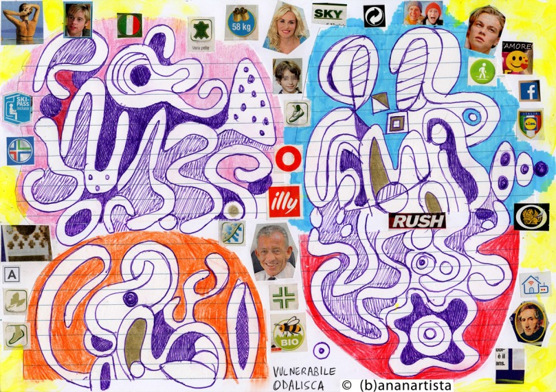 SKY ILLY RUSH LIDL AMORE collage by (b)ananartista sbuff © 2015 all rights reserved