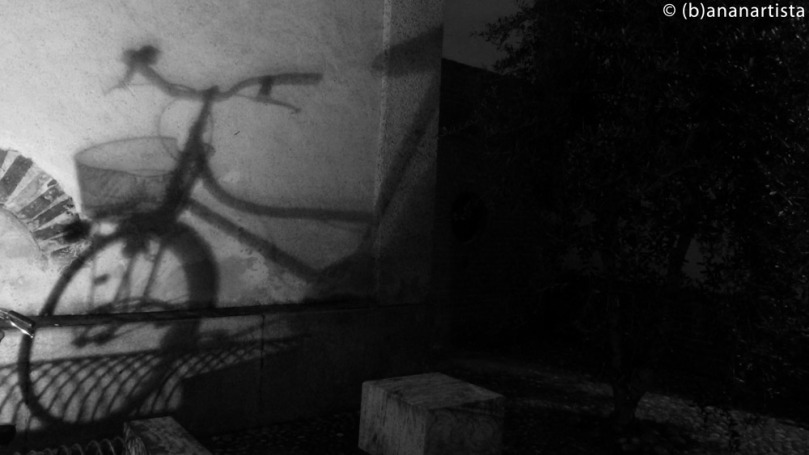 THE SHADOW OF THE BIKE still life photography by (b)ananartista sbuff © 2016 all rights reserved