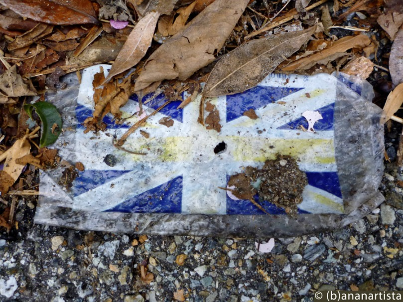 FLAG OF THE UNITED KINGDOM photography readymade by (b)ananartista sbuff © 2016 all rights reserved
