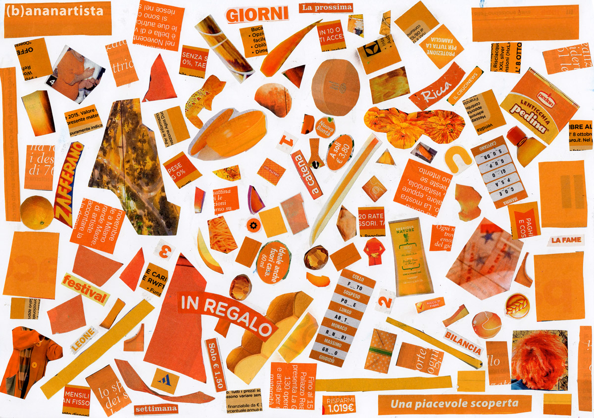 ORANGE COLLAGE artwork by (b)ananartista sbuff © 2016 all rights reserved