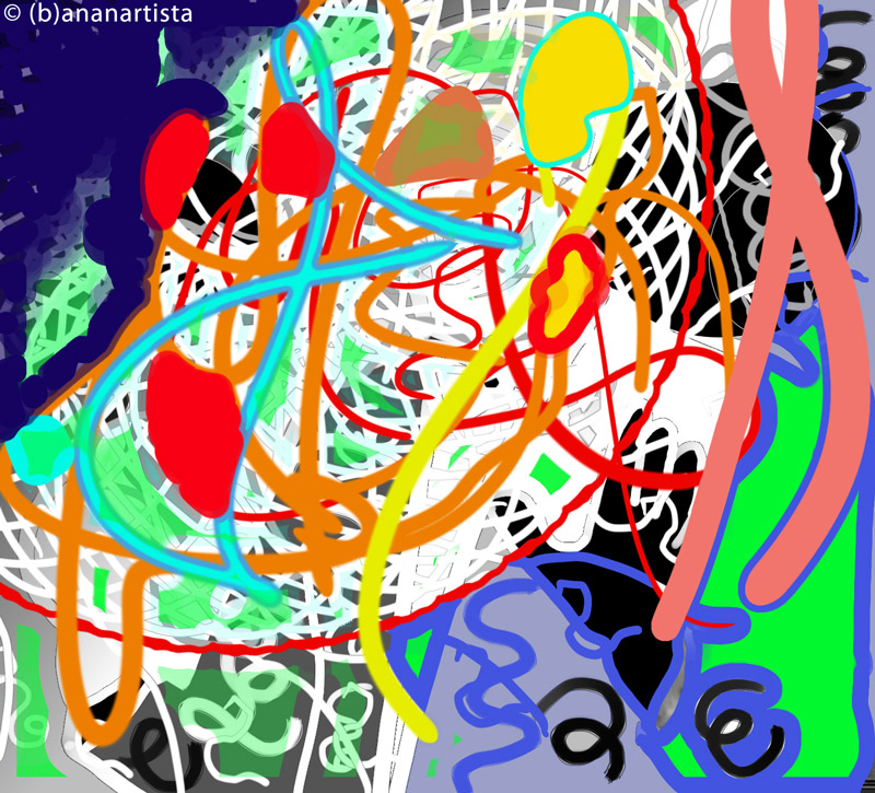 SELF-PENNED FERTILISATION computer art by (b)ananartista sbuff © 2016 all rights reserved