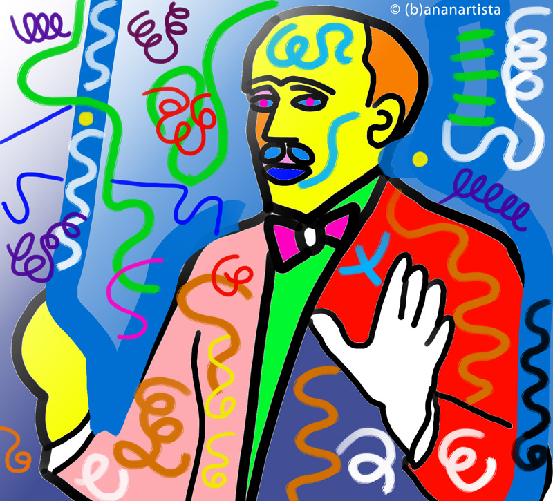 ARTURO TOSCANINI digital art portrait by (b)ananartista sbuff © 2016 all rights reserved