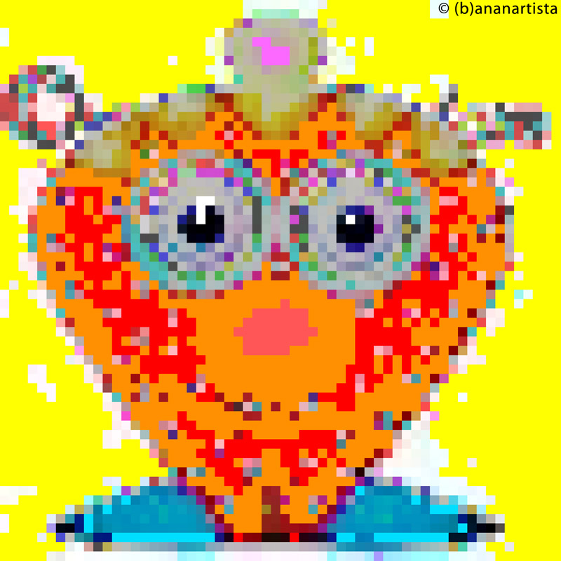 STRAWBERRY MAN pixel digital art by (b)ananartista sbuff © 2016 all rights reserved