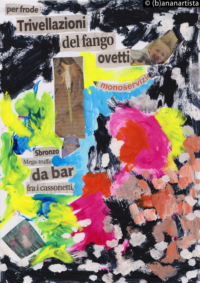 MEGA  TRUFFA DA BAR FRA I CASSONETTI mixed media collage by (b)ananartista SBUFF