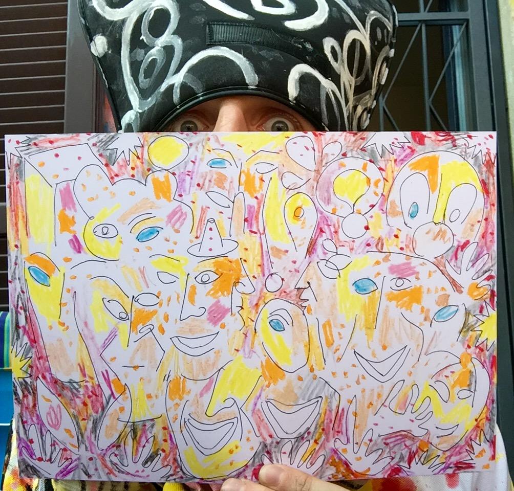 my self portrait of jeff koons (b)ananartista artwork