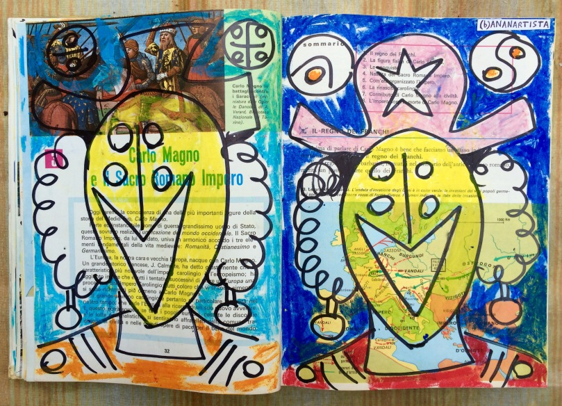 laughing twins painting by (b)ananartista