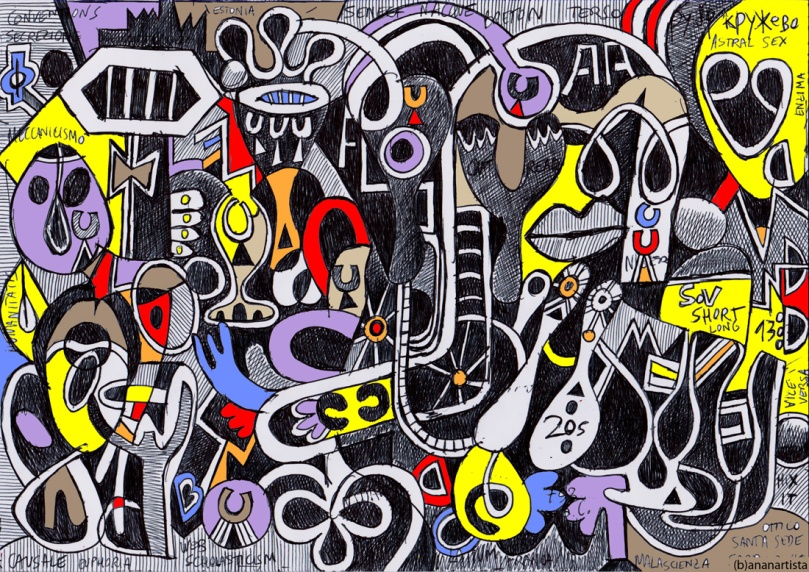 astral sex: outsider art painting by (b)ananartista sbuff