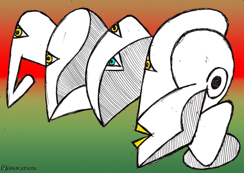eclissai l'invisibile : disegno di (b)ananartista sbuff