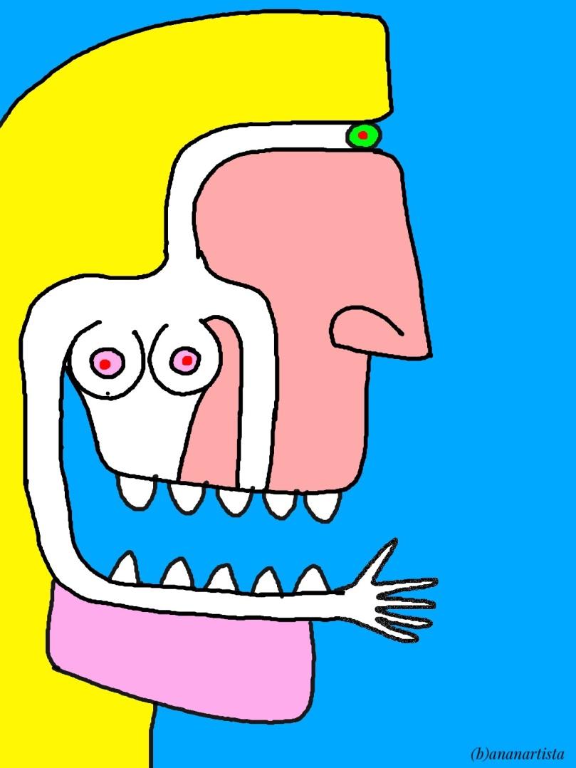 Nudo Malefico: dipinto digitale di (b)ananartista sbuff