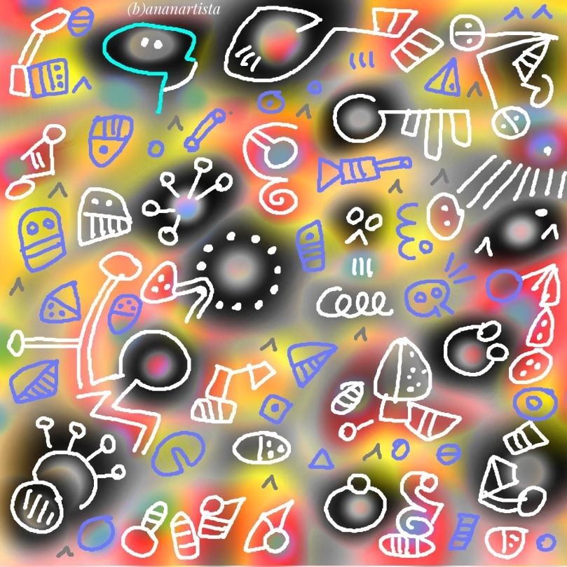 appercezione e schematismo trascendentale: dipinto digitale di (b)ananartista sbuff