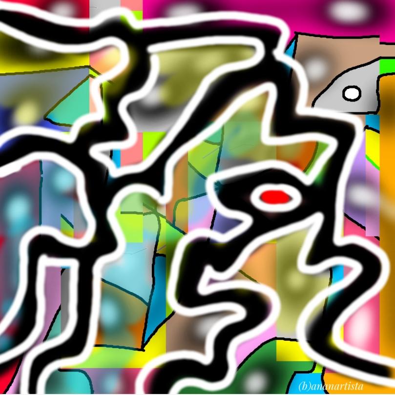 onnipotenza del possibile: dipinto digitale di (b)ananartista sbuff