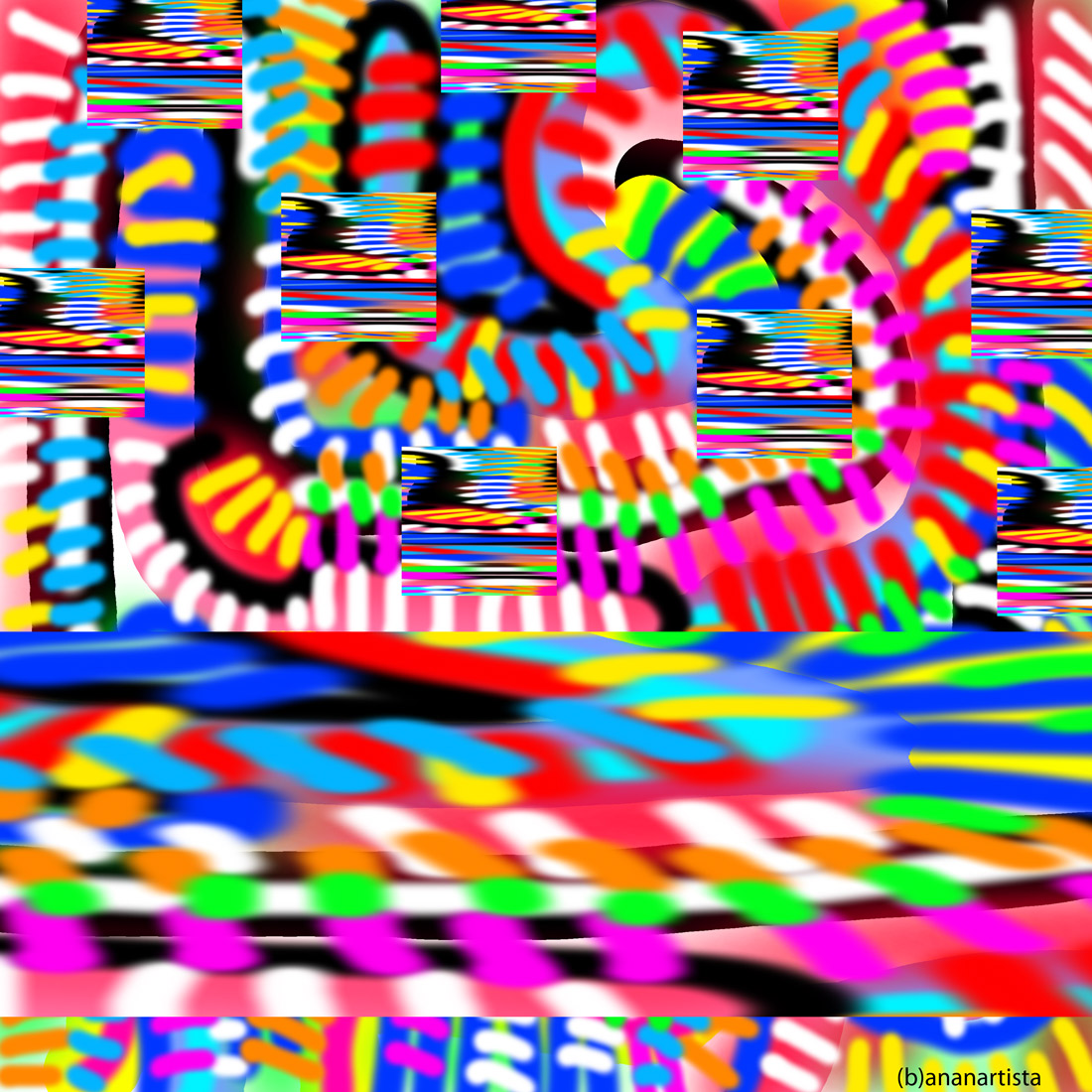introspezione della bestia: dipinto digitale di (b)ananartista sbuff