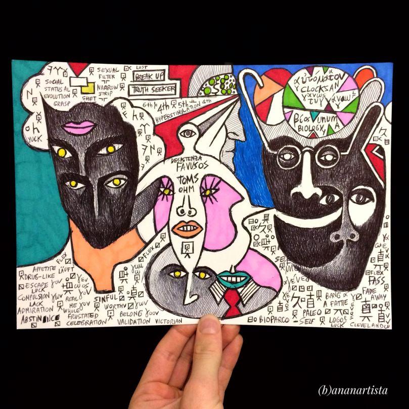 truth seeker: drawing outsider surrealism art by (b)ananartista sbuff