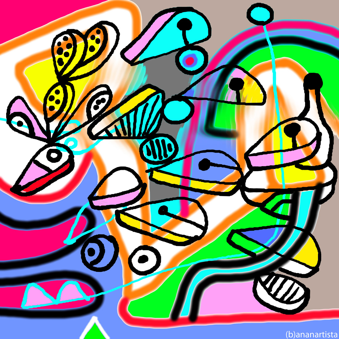 un percorso divertente e coloratissimo : digital abstract contemporary art by (b)ananartista sbuff