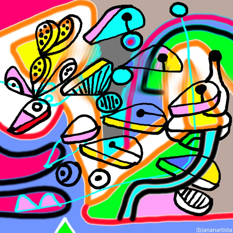 un percorso divertente e coloratissimo : digital abstract contemporary art by (b)ananartista sbuff