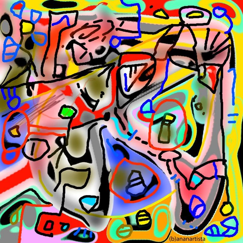 vivaio pero: digital abstract contemporary art by (b)ananartista sbuff