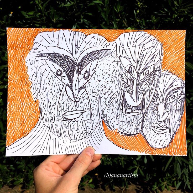 rapimento del cuore e dei sensi: pittura di (b)ananartista sbuff