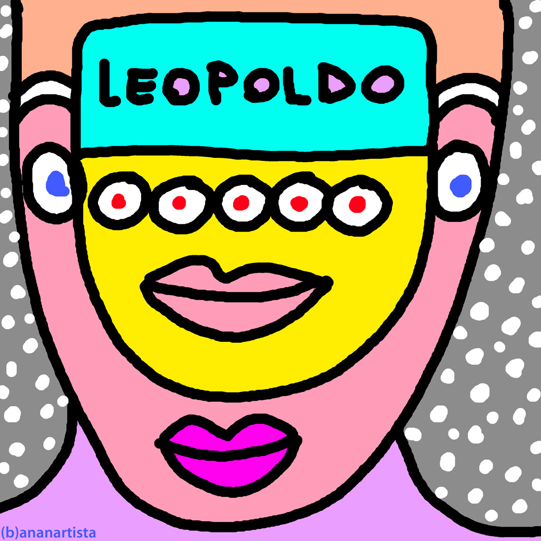leopoldo outsider digital painting portrait by (b)ananartista sbuff